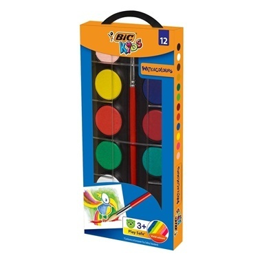 Bic Sulu Boya 12li Kutu Çap 23,5 Mm Renkli